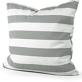 Advogue Kissenbezüge 45x45cm Weißer Streifen Kissenhülle Sofakissen Kissenbezug mit Reißverschluss (Grau)