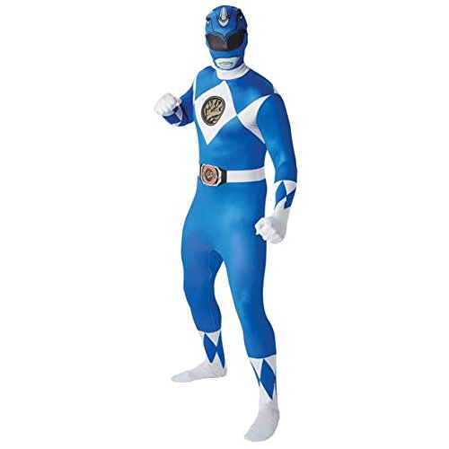 Mighty Morphin Power Rangers Blue Ranger - Adult 2nd Skin Costume Men : X LARGE