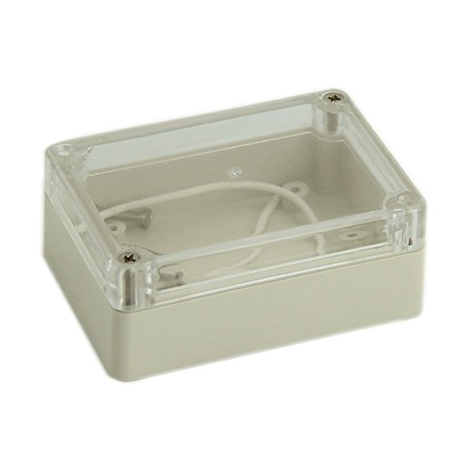 SODIAL(R) 85x58x33mm Waterproof Clear Cover Plastic Electronic Cable Project Box Enclosure Case Test