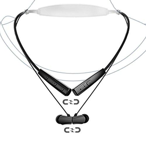 Avantree Cuffie Neckband Auricolare Collo Bluetooth Auricolari Collana Cuffia Collare aptX ULTRA-MAGRO & MAGNETICO, Senza Fili In Ear Neck Earbuds con Microfono per iPhone, Samsung Smartphone - NB02 - Libera Accessori Natale