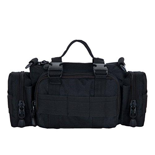 Baymate Unisex Militär Tasche Hoch Kapazität Outdoor Sportarten Taktisch Tasche Groß Tasche Schwarz