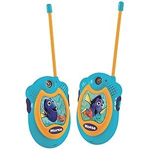 Nemo-TW06DO Dory, Walkie-Talkie con Rango Transmisión Color Azul Lexibook TW06DO