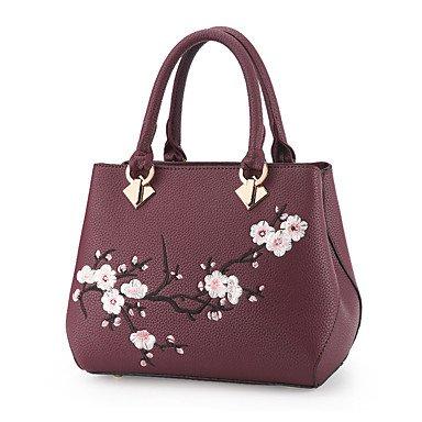 Frauen Handtasche Mode Soid Schulter Messenger Crossbody Taschen / Handtaschen Tote Purple