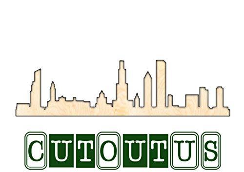 Eyrrme chicago skyline intagliato su misura, forniture artigianali in legno per cameretta dei bambini, decorazione da parete per matrimoni, arte della fattoria