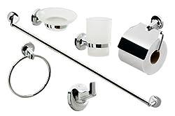 Cassellie 0908001 6-Piece Bathroom Accessories Set Metal
