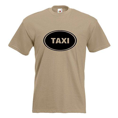 KIWISTAR - Taxi T-Shirt in 15 verschiedenen Farben - Herren Funshirt bedruckt Design Sprüche Spruch Motive Oberteil Baumwolle Print Größe S M L XL XXL Khaki