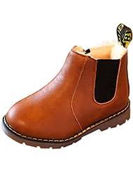 Botas de invierno para niños - hibote Botas de Martin Botas para el viento Botas de nieve Botas de nieve Suela de goma Zapatos antideslizantes