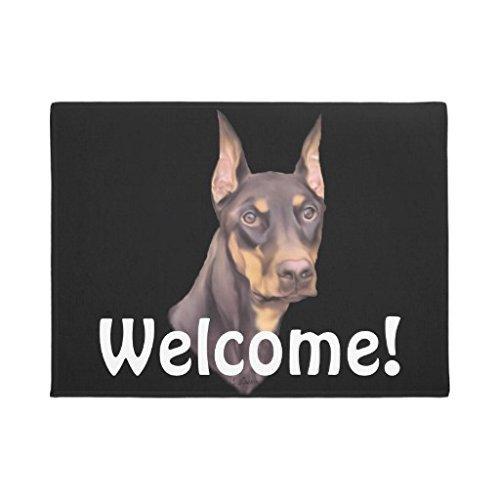 Doberman Felpudos Perros Funny protectora del suelo de caucho para salón o dormitorio de baño 60x 40cm casa Mat Alfombra
