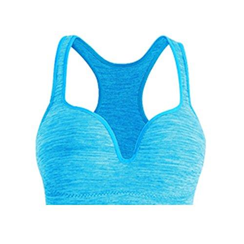 Ericoy Damen V Ausschnitt Sport-BH Stretch Workout Tank Tops