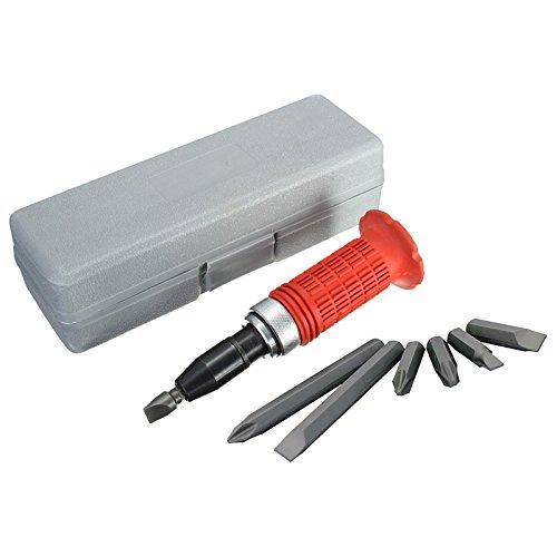 Destornillador de golpe (destorpolpe) 7 piezas en estuche