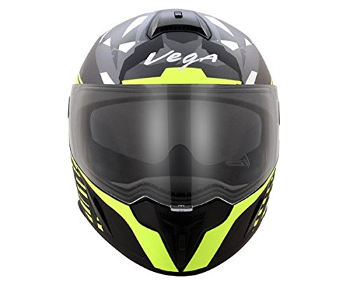 Vega Ryker Camo Full Face Helmet (Dull Black/Yellow, M)