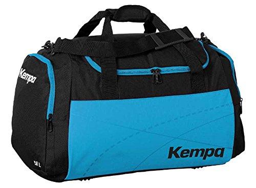 Kempa Borsa sportiva Small per bambini azzurro/nero, 46x 25x 27cm, 30L (con stampa su richiesta nome)