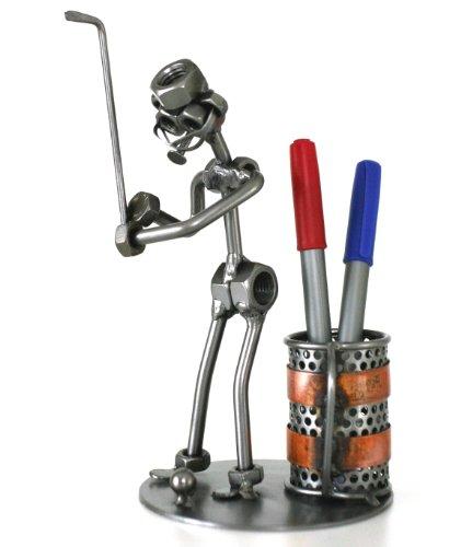 Schraubenmännchen GOLF STIFTEHALTER handgefertigte ausgefallene Geschenkidee (Golf-geschenke Ausgefallene)