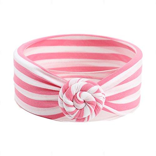 nd / Stirnband Elastics Blume Haarschmuck Kopfband Streifen Hairband Accessoire (Blume Hairband)