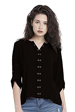 Nakoda Creation Women's Plain Slim fit Shirt