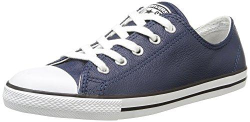 Converse - Dainty Leath Ox, Sneaker basse Donna Blu (Bleu Nuit)