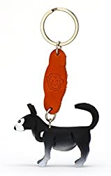 Husky Nikita–Small Leather Key Ring, Great Gift Idea for Women and Men in Dog Accessories Under Collar, Siberian Husky, Siberian Husky from Monkimau
