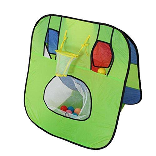 Preisvergleich Produktbild Gazechimp Kinder Faltzelt Mit Basketballkorb 80 x 65 x 80 cm für Kinder Basketball Schießen