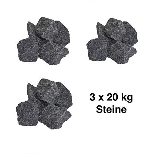 Harvia Saunasteine-Set 60 kg 5-10 cm Ofensteine Steine für Saunaofen Elektroofen R-990
