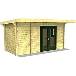 Infraworld Poolhaus Living 3 Größe 475 x 230 cm in nord. Fichte 391052