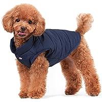 ubest Hundemantel Warm Winterjacke Verdicken Zotte Baumwolle Gepolstert Puffer Weste, Blau, 26 * 35 * 26 cm, Größe XS