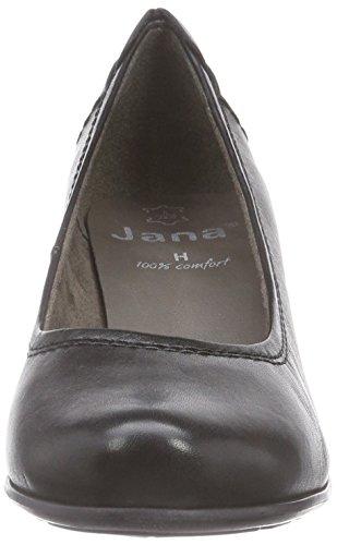 Jana22404 - Decolleté chiuse Donna Nero (Schwarz (schwarz (BLACK 001 )))