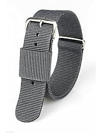 ACE Correa de Reloj Premium Nylon 240x20 mm Correa de Reloj con Hebilla de Acero Inoxidable, Varios Colores