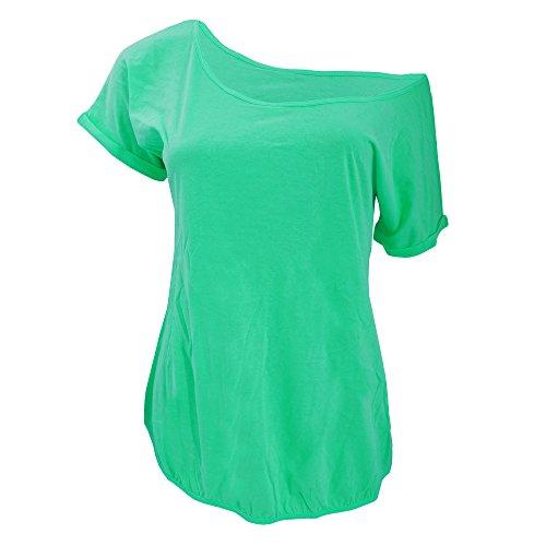 B&C Damen Paradise T-Shirt, Kurzarm, U-Boot-Ausschnitt Schwarz