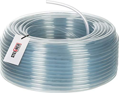 STEIGNER Benzinschlauch Wasserschlauch PVC Schlauch Transparent, Durchmesser: 5-8 mm, Länge: 50 m, SBS-05-50
