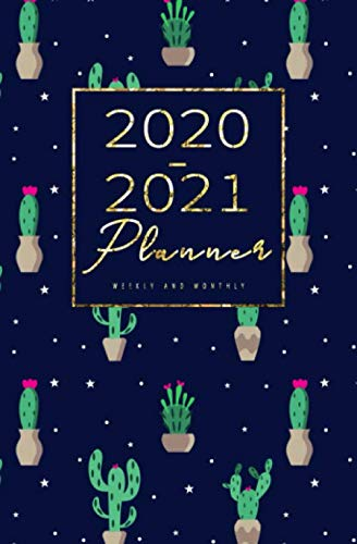 2020-2021 Weekly And Monthly Planner: Calendar Schedule, Squares Quad Ruled Notes, Dot Notes, No Holiday, Cactus (January 2020 through December 2021) Pocket Size 5.25
