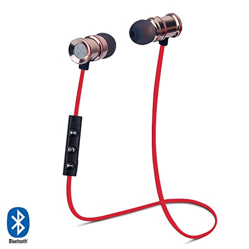 KARYLAX Écouteurs Kit Piéton Bluetooth Tour de Cou Sport Rouge pour Crosscall Action-X3 / Trekker-X4 / Core-X3 / Trekker-M1