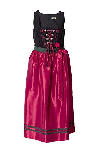 Sheego - Robe - Opaque - Femme Rouge Noir/rouge noir/rouge