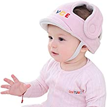 Hotmall Sombrero de Protección Infantil Casco de Seguridad para Bebés Protector de Cabeza Transpirable Ajustable para