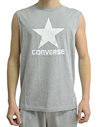 Converse Crew Logo Debardeur Homme Gris