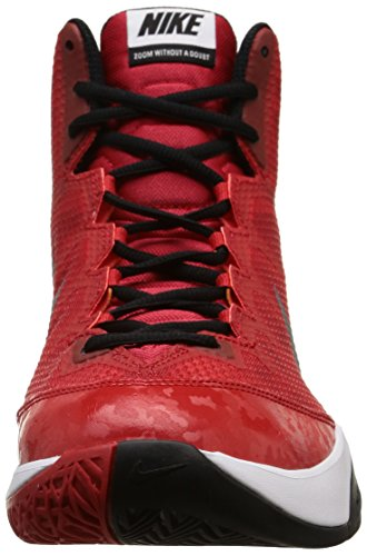 Nike Zoom Without A Doubt, Chaussures de Basketball homme Rouge - Rot (University Red/Reflective Silver/White/Blue)