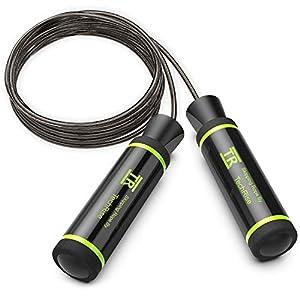 TechRise Springseil, Jump Rope Speed Rope seilspringen mit hautfreundlichen Griff und einstellbares Soft Seil für Fitnesstraining Abnehmen Fat Burning übungen, für Kinder und Erwachsene