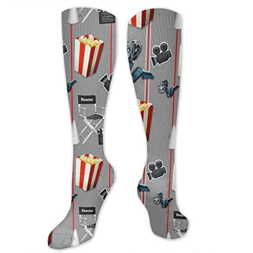 ZENGYAN Movies Watcher Popcorn Compression Sock for Women & Men - Best for Running, Athletic Sports, Flight Travel 19.68""