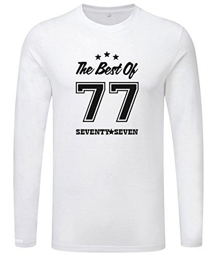The best of 77 - Geburstag - Seventy Seven - Herren Langarmshirt Weiß