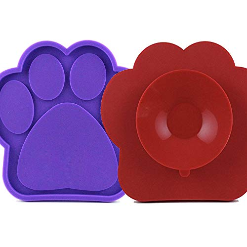 ASOCEA 2 x Leckerli-Pad für Hunde, zum Waschen von Ablenkungsgeräten, Leckerli-Pad für Haustiere, Welpen, Baden
