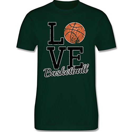 Basketball - Love Basketball - Herren Premium T-Shirt Dunkelgrün