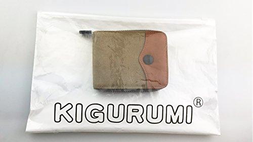 Canvas Doppelschicht Geldbörse Herren Geldbeutel Kurze Mappe Brieftasche Portemonnaie Männer Khaki