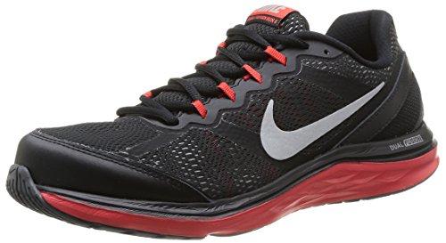 Nike - Dual Fusion Run 3, Scarpe Da Corsa da Uomo BLCK/MTLLC SLVR-CHLLNG RD-WLF