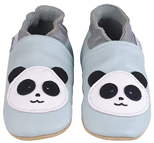 Kindsgut Krabbel-Schuhe, Kita, Baby, echtes Leder, Gr. 24/25, Panda