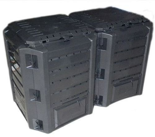 Garten Komposter 800L Schwarz Modul Thermokomposter Kompostbehälter Kunststoff