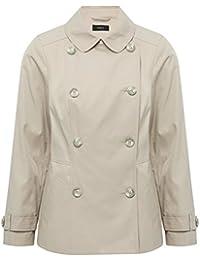 M&Co Ladies Long Sleeve Pocket Details Short Double Breast Mac Coat