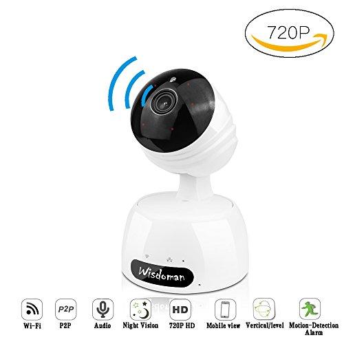 Xyxtech telecamera ip camera videosorveglianza wireless, 720p hd, p2p, ir-led, wifi, tutte le funzioni di app, supporta microsd fino a 64gb, compatibile con ios e android