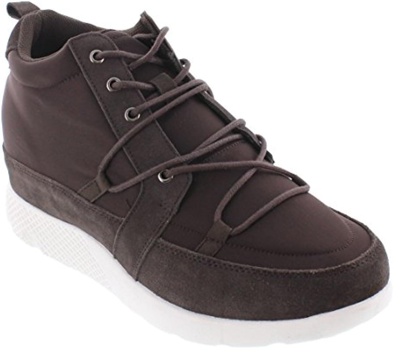 CALTO H22473 inches Taller  Höhe Zunehmende Aufzug Schuhe  Nubuk Cement Fashion Sneakers