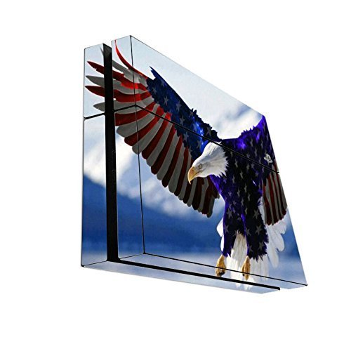 > > > Decal STICKER < < < American Flag Eagle Design Print Image Playstation 4 PS4 Console Vinyl Decal Sticker Skin by Trendy Accessories by Trendy Accessories
