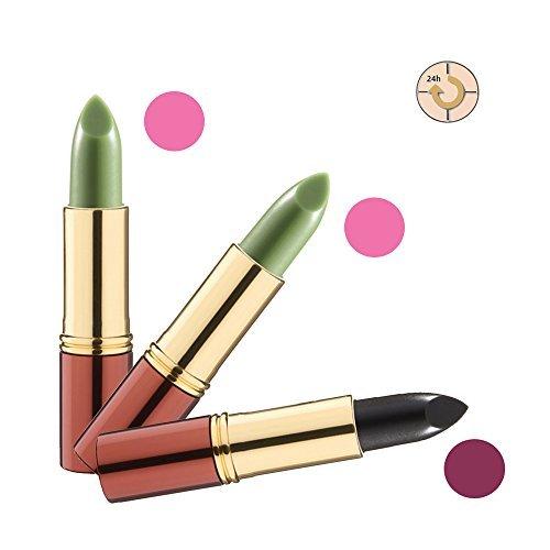 IKOS Rouge à lèvres De 3 Set: la pensée Rouge à lèvres 2 x vert/rose de nuit + 1 x noir/rouge cerise - Remise 15,38%