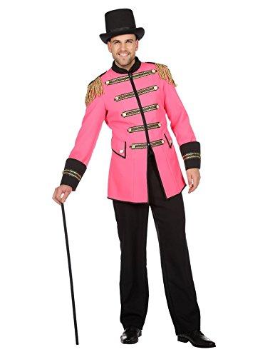 Wilbers Showkostüm Show Zirkus Direktor Kostüm Herren Manege Rosa Karneval Fasching Rosa ()